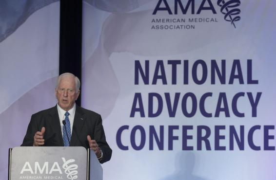 Rep. Mike Thompson, D-Calif. at the AMA National Advocacy Conference.