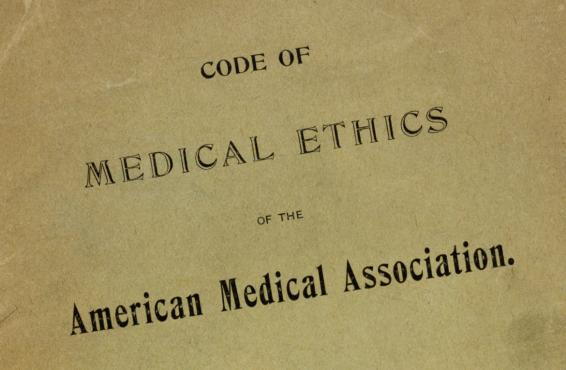 A page from the AMA Code of Medical Ethics