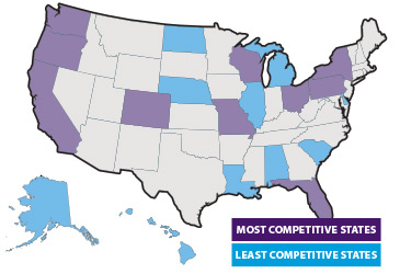 10 top states where health insurers dominate: New study | American